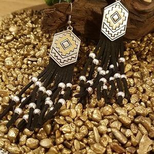 CLOSING New Bohemian Aztec w/ Tassel Earrings